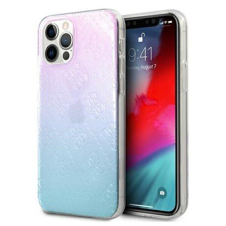 Husa Cover Guess 3D Raised Iridescent pentru iPhone 12 Mini Blue