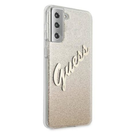 Husa Cover Guess Glitter Gradient pentru Samsung Galaxy S21 Plus Gold