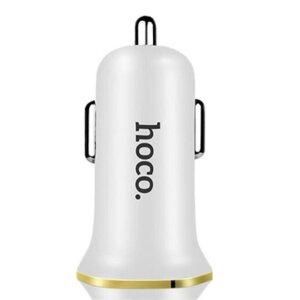 Incarcator Auto Hoco + Cablu Lightning Z1 Alb