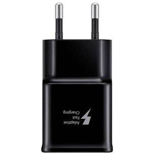 Incarcator Retea USB C Samsung 15W + Cablu date USB-C Fast Charging Negru