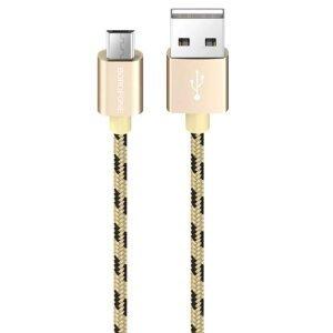 Cablu Date Micro Usb Borofone BX24 Ring Textil 1m Auriu
