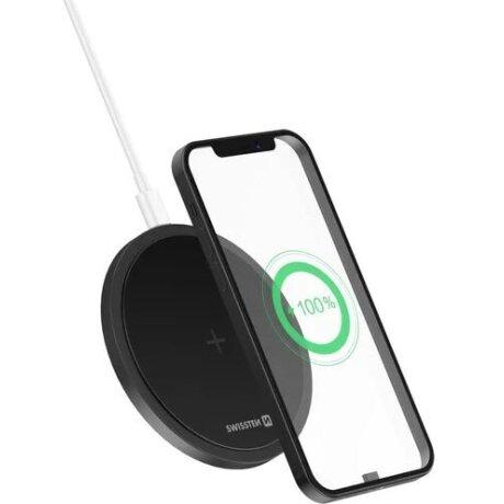 Incarcator Wireless Swissten 15W Negru