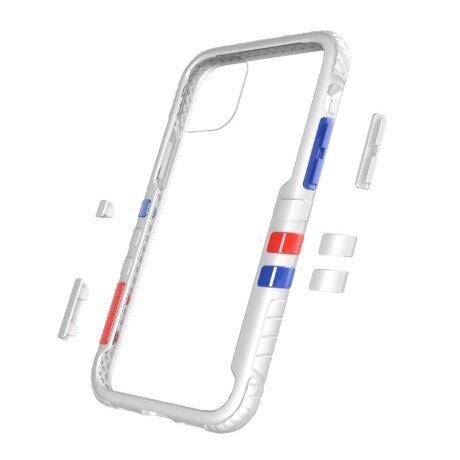 Husa Cover Hard X-Fitted Chameleon pentru iPhone 12 Mini Transparent Rama Alb