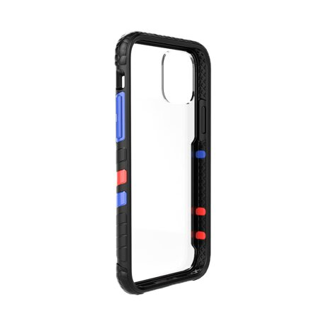 Husa Cover Hard X-Fitted Chameleon pentru iPhone 12 Mini Transparent Rama Negru