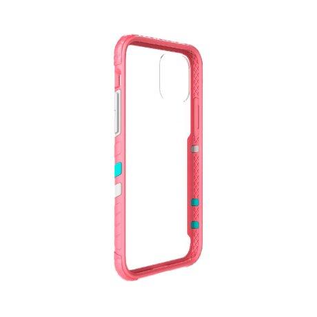 Husa Cover Hard X-Fitted Chameleon pentru iPhone 12/12 Pro Transparent Rama Roz