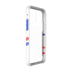 Husa Cover Hard X-Fitted Chameleon pentru iPhone 12/12 Pro Transparent Rama Alb