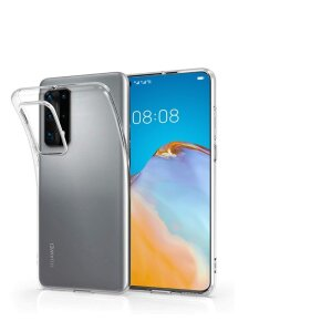 Husa Cover Silicon X-Fitted Antimicrobial pentru Huawei P40 Pro Transparent