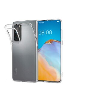 Husa Cover Silicon X-Fitted Antimicrobial pentru Huawei P40 Transparent