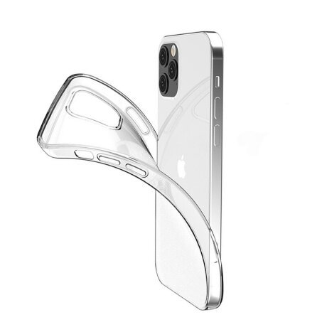 Husa Cover Silicon X-Fitted Antimicrobial pentru iPhone 12 Pro Max Transparent
