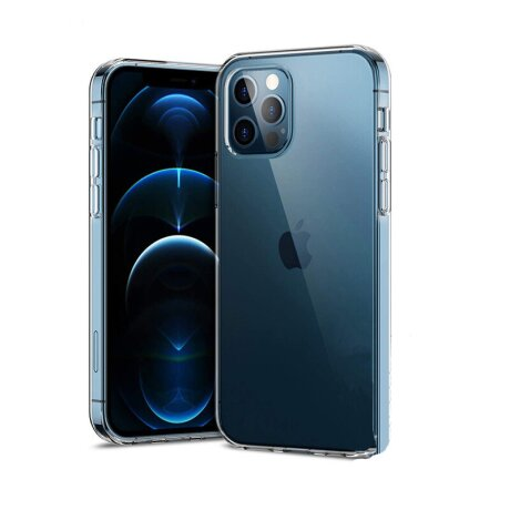 Husa Cover Silicon X-Fitted Antimicrobial pentru iPhone 12/12 Pro Transparent