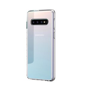 Husa Cover Silicon X-Fitted Antimicrobial pentru Samsung Galaxy S10 Plus Transparent