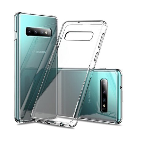 Husa Cover Silicon X-Fitted Antimicrobial pentru Samsung Galaxy S10 Transparent