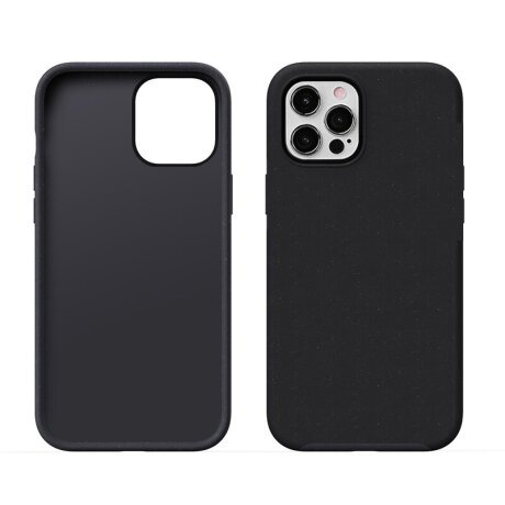 Husa Cover Silicon X-Fitted Degradation Soft pentru iPhone 12/12 Pro Negru