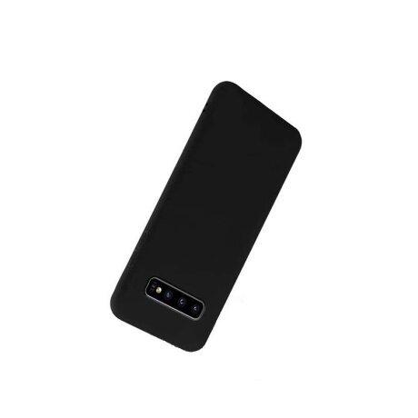 Husa Cover Silicon X-Fitted Degradation Soft pentru Samsung Galaxy S10 Negru