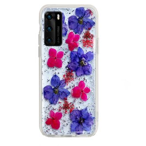 Husa Cover Silicon X-Fitted Flora pentru Huawei P40 Lite Multicolor