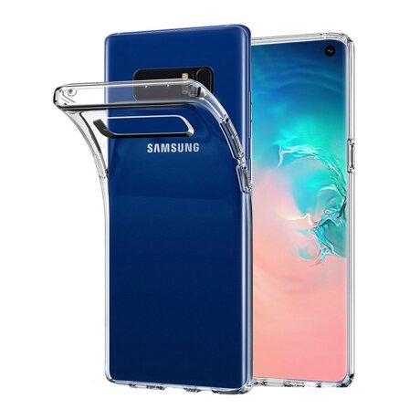 Husa Cover Silicon Slim X-Fitted Jacket pentru Samsung Galaxy S10 Transparent