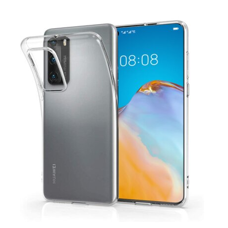 Husa Cover Silicon Slim X-Fitted Jacket pentru Huawei P40 Transparent