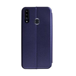 Husa Book OC Piele Ecologica pentru Samsung Galaxy A20s Bulk Albastru