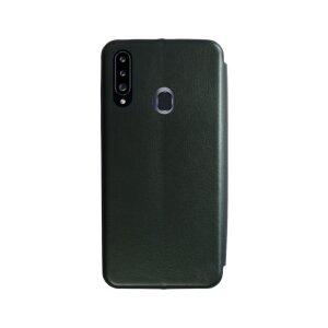 Husa Book OC Piele Ecologica pentru Samsung Galaxy A20s Bulk Verde