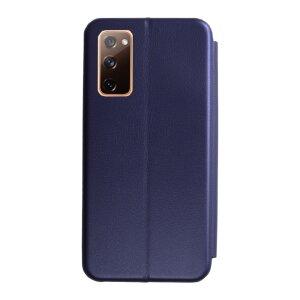 Husa Book OC Piele Ecologica pentru Samsung Galaxy S20 FE/S20 FE 5G Bulk Albastru