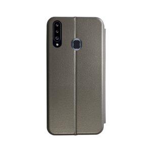 Husa Book OC Piele Ecologica pentru Samsung Galaxy A20s Bulk Gri