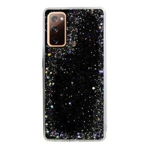 Husa Cover Silicon Brilliant Glitter pentru Samsung Galaxy S20 FE/S20 FE 5G Negru