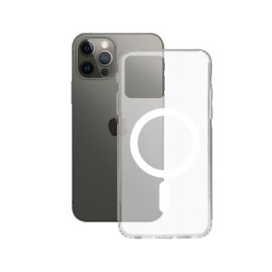 Husa Cover Ksix Flex MagCharge pentru iPhone 12/12 Pro Transparent