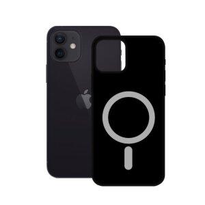 Husa Cover Ksix Soft MagCharge pentru iPhone 12 Mini Negru