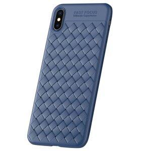 Carcasa iPhone X/XS Woven Texture Usams Albastru