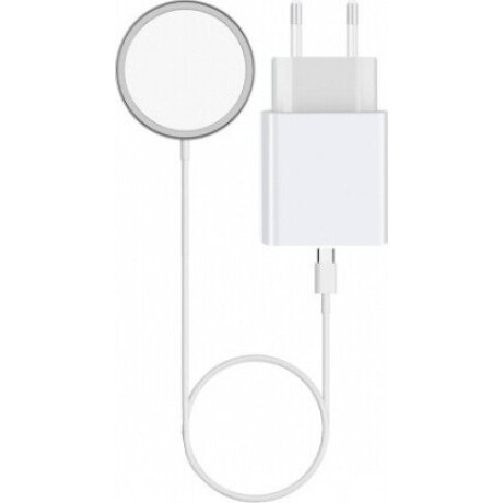 Set Incarcator Retea Magcharger 20W + Cablu Date Lightning 1m White