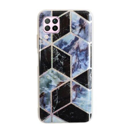 Husa Cover Silicon Geometric pentru Huawei P40 Lite Bulk Negru