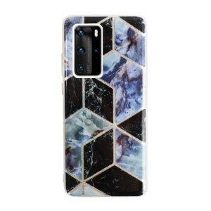 Husa Cover Silicon Geometric pentru Huawei P40 Pro Bulk Negru