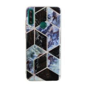 Husa Cover Silicon Geometric pentru Huawei Y6P  Negru