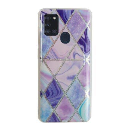 Husa Cover Silicon Geometric pentru Samsung Galaxy A21s Bulk Mov