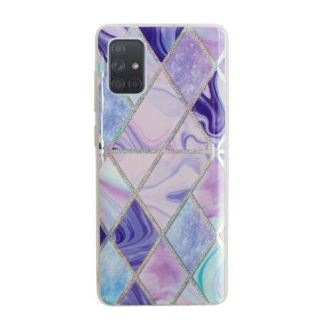 Husa Cover Silicon Geometric pentru Samsung Galaxy A71 Bulk Mov