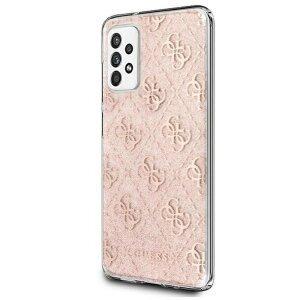 Husa Cover Guess 4G Glitter pentru Samsung A52 Pink