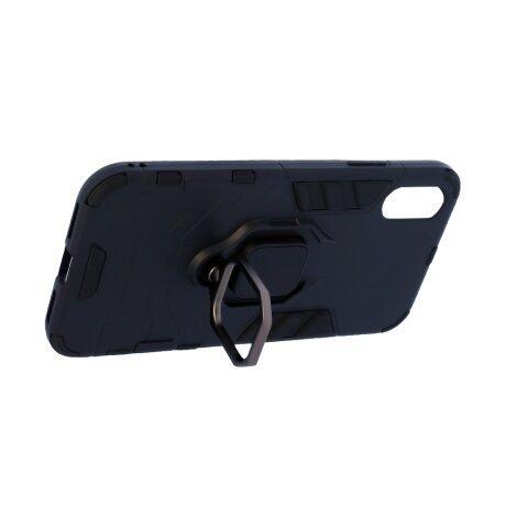 Husa Cover Hard Ring Armor pentru iPhone X/Xs Negru