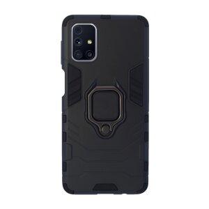 Husa Cover Hard Ring Armor pentru Samsung Galaxy M31s Negru