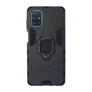 Husa Cover Hard Ring Armor pentru Samsung Galaxy M51 Negru