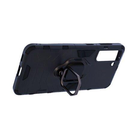 Husa Cover Hard Ring Armor pentru Samsung Galaxy S21 Negru