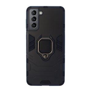 Husa Cover Hard Ring Armor pentru Samsung Galaxy S21 Plus Negru