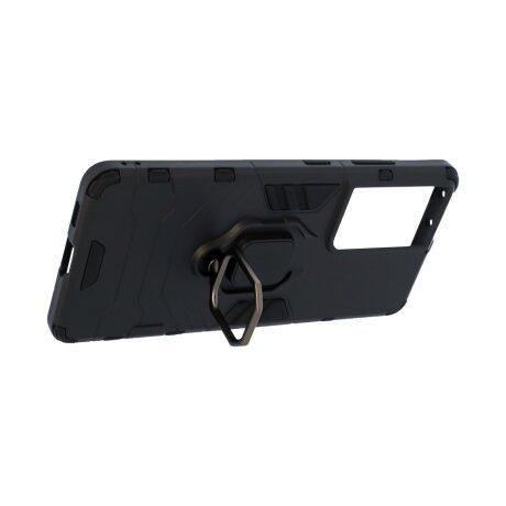 Husa Cover Hard Ring Armor pentru Samsung Galaxy S21 Ultra Negru