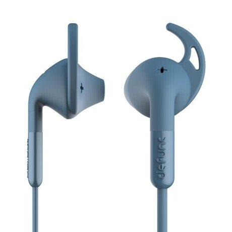 Casti cu Fir DeFunc +Sport Microfon Jack 3.5mm Albastru