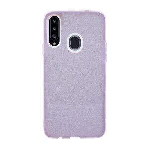 Husa Cover Fashion Glitter pentru Samsung Galaxy A20s Bulk Roz