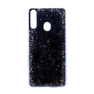 Husa Cover Silicon Brilliant Glitter pentru Samsung Galaxy A20s Negru