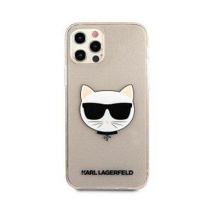 Husa Karl Lagerfeld Choupette Glitter pentru iPhone 12 Pro Max Auriu