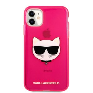 Husa Karl Lagerfeld Choupette Head pentru iPhone 11 Roz