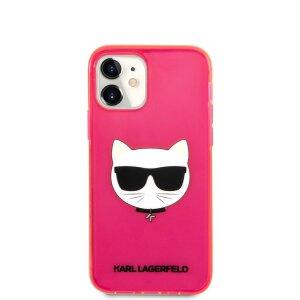 Husa Karl Lagerfeld Choupette Head pentru iPhone 12 Mini Roz