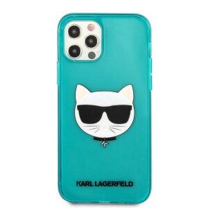Husa Karl Lagerfeld Choupette Head pentru iPhone 12 Pro Max Albastru