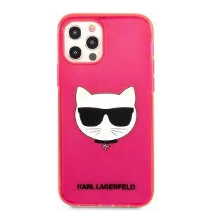 Husa Karl Lagerfeld Choupette Head pentru iPhone 12 Pro Max Roz